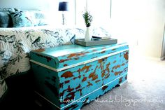 So,  we recently inherited a hope chest that was my grandmother's.  It is a  very pretty chest, but it was in pretty bad shape.  Here are so...