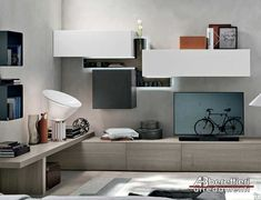 Amazing Wall Storage Items For Your Contemporary Living Room - Floating wall storage is a mixture of sensible storage and residential décor vogue the place the storage unit is mounted to the wall and is used to handle CDs and DVDs. Living Room Storage, Wall Storage, Living Room Bedroom, Cozy Living, Small Living, Indian Living Rooms, Bohemian Style Bedrooms, Piece A Vivre, White Furniture