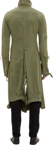Greg Lauren Vintagetent Batman Duster Coat in Green for Men - Lyst