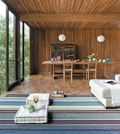 dining room + wood