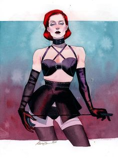 Black Widow  Dominatrix fashion, 2017 commission