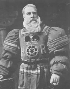 "Richard Temple as Sergeant Meryll in the original 1888 production of ""The Yeomen of the Guard"" at the Savoy Theater."