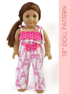 Pale Pink Satin Pajamas with Slippers. Fits 18 Dolls like American Girl® fU0WX