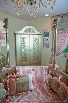 Princess Fairytale Nursery By Sweet Lullaby Interiors Features La Belle Princesse Custom Canvas Art From Dish And Spoon Productions