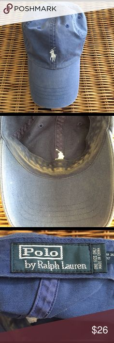 [Polo by Ralph Lauren] navy polo hat Used condition as shown in photos!! Can easily be washed! Classic navy with white horse. Polo by Ralph Lauren Accessories Hats