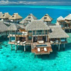 Hilton overwater bungalow in Bora Bora