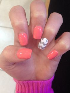 Pink, White, and Sliver with Strips Nail Art Design