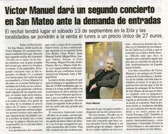 """Conciertos """"50 años no es nada"""": Noticia aparecida en """"La Nueva España"""", 6 de marzo de 2014"""