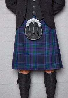 If you're feeling truly patriotic, the Spirit of Scotland tartan is the choice for you. Featuring the blue of the saltire and purple of the thistle, this choice of kilt will add an unmissable Scottish touch to any occasion.