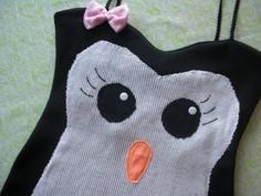 miss penguin tank dress by SewOeno on Etsy