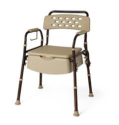 Discrete Bedside Commode with Microban - 400 Lb. Weight Capacity
