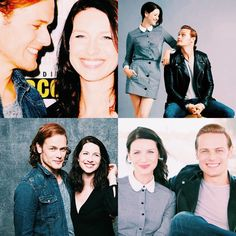 #people: sam heughan /// Jamie & Claire from the Outlander series