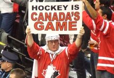 Hockey is a big part of Canadian culture. This shows Canada's culture identity and how Hockey is a sport that represent the Canadian culture. Nhl Games, Hockey Games, Ice Hockey, Olympic Hockey, Canadian Things, I Am Canadian, Canadian Culture, Meanwhile In Canada, 2010 Winter Olympics