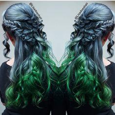 Metallic blue hair cokor melt with boho braids by @Lisadoeshair17 festival hair hotonbeauty.com