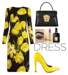 """""""Untitled #129"""" by beso88 ❤ liked on Polyvore featuring Dolce&Gabbana, Michael Antonio, Yves Saint Laurent and Tom Ford"""