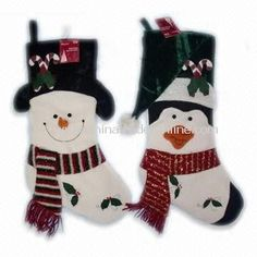 Snowman and Penguin Stockings