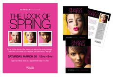 Sephora in-store event. Art direction and design: Allison Milmoe. #beauty #pink #spring