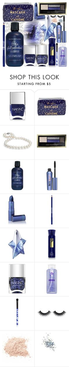 """""""Winter Night"""" by grozdana-v ❤ liked on Polyvore featuring beauty, Nails Inc., Tri-coastal Design, Blue Nile, Max Factor, Bumble and bumble, Benefit, Lipstick Queen, Lord & Berry and Thierry Mugler"""
