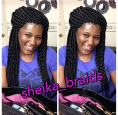 . Twist Box Braids, Big Box Braids, Box Braids Styling, Braids With Weave, Twists, African Braids Hairstyles, Curly Bob Hairstyles, Black Girls Hairstyles, Weave Hairstyles