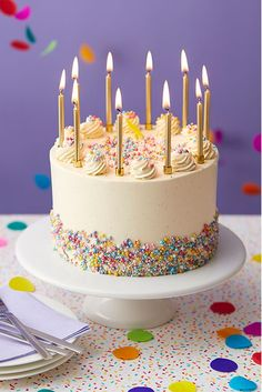 Funfetti CakeA show-stopping party cake for fun-lovers that will suit any occasion, gender or age! The Funfetti Cake is decorated with an abundance of tiny multi coloured sugar pearls in beautiful jewel- like shades and pretty piped buttercream rosettes. Colorful Birthday Cake, Cute Birthday Cakes, Birthday Cakes For Women, Funny Birthday, Birthday Wishes, Birthday Celebration, Happy Bday Cake, Colourful Cake, Birthday Ideas