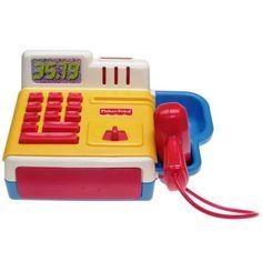 Fisher-Price - 1997 - Cash Register Cash Register, Fisher Price, Landline Phone, Point Of Purchase