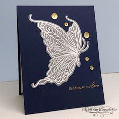 my Ink well Losing A Baby, June Challenge, I Card, Butterfly, Stamp, Ink, Love, Feminine, Amor