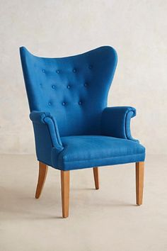 Tufted Wingback Chair » LOVE!