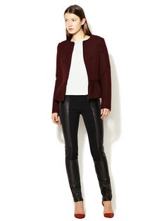 Narciso Rodriguez Leather Paneled Pant