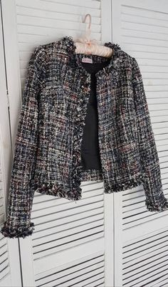 39148249d8 Chanel style tweed costume, tweed jacket, chanel jacket, chanel tweed suit,  tweed