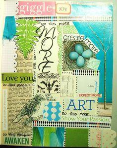 #art journal # art journal page # art journaling # mixed media ------Christina Lowe Campisi, artist