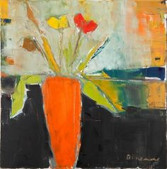 Stephen Dinsmore (American, b. 1952) - Orange Vase