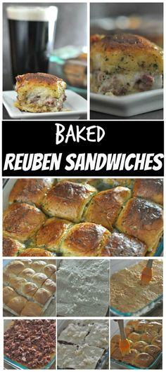 Baked Reuben Sandwiches min oven-baked
