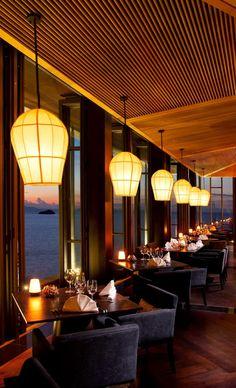 Jahn Restaurant at Sunset - Conrad Koh Samui