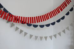 paper rectangle garland by primnpaper on Etsy