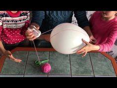 Balon ve İpten Avize Yapımı ,Nasıl Yapılır Eğlence Komedi (İnci Minci) - YouTube