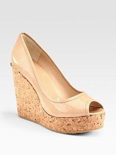 0aa2ee78540 Jimmy Choo Leather Wedge Sandals