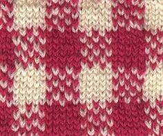 gingham color knitting chart