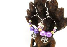 Tree of Life Mismatched Earrings - Beaded Fashion Earrings - Tree of Life Beaded Earrings Handmade Gift Tags, Handmade Items, Etsy Earrings, Drop Earrings, Tree Of Life Earrings, Shaving Oil, Earring Tree, Close To My Heart, Gay Pride