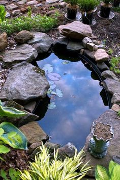 Small corner with water in the garden