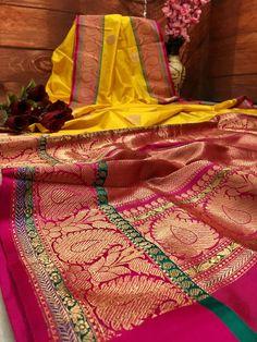 Now make your wardrobe stay updated for every occasion with IndyVogue - your latest fashion stop to buy sarees online. For online saree shopping in India or USA give us a call. Pink Saree Silk, Silk Saree Kanchipuram, Orange Saree, Bridal Silk Saree, Yellow Saree, Kanjivaram Sarees, Red Saree, Pure Silk Sarees, Saree Dress