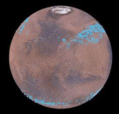 Mars has belts of glaciers consisting of frozen water Mars has distinct polar ice caps, but Mars also has belts of glaciers at its central latitudes in both the southern and northern hemispheres. A thick layer of dust covers the glaciers, so they appear as surface of the ground, but radar measurements show that underneath the dust there are glaciers composed of frozen water. New studies have now calculated the size of the glaciers and thus the amount of water in the glaciers. It is the…