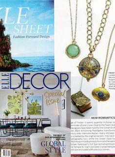 Green Opal Stone Locket, stunning in Elle Decor