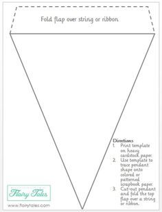 Free Bunting Printable Pattern Great For Parties Holidays Showers