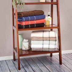 Somerset Home Quick Dry 100 Percent Cotton Zero Twist 6-Piece Towel Set, Black
