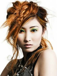 Bright Hair Color Ideas for 2012 - Heres our pick of bold and bright hair color ideas to experiment with in 2012! A fashion-forward look will guarantee your place on the best tressed list.