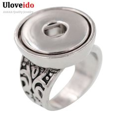 Find More Rings Information about 50% OFF 2016 Uloveido Unique USA ladies Big Party Rings Fit 18mm Ginger Snap Button DIY Jewelry Antic Black Women Rings UCR017,High Quality Rings from ULOVE Fashion Jewelry on Aliexpress.com