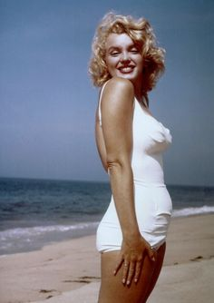 Marilyn Monroe at Amagansett Beach in the Hamptons, 1958