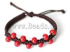 Porcelana Pulsera de shaballa,#bracelets# http://www.beads.us/es/producto/Porcelain-Shamballa-Bracelet_p91854.html
