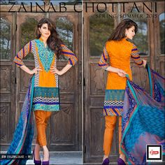 Zainab Chottani Summer Lawn Dresses Collection 2015 by LSM Textile Mills | GalStyles.com