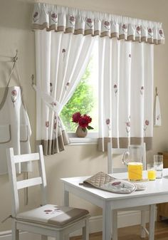 kitchen curtains home depot Curtains Home Depot, Kitchen Window Curtains, Contemporary Decor, Modern Decor, Kitchen Curtain Designs, Rideaux Design, Cute Curtains, Curtains Uk, Gingham Curtains